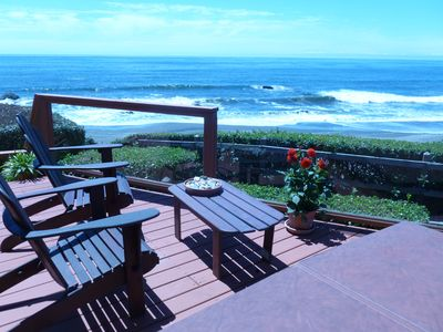 "Photo for Oceanfront Cabin at State Border ""Shoreline""  Heaven......by the sea."