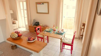Photo for Sunny, South facing apartment Antibes Old Town, 2 Balconies, fully air condition