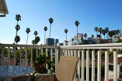 Expansive Balcony with a view on W Hotel and Capitol REcords