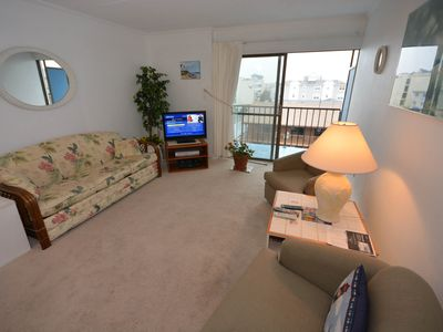 Photo for Quaint, spacious 1-bedroom condo with free WiFi and an outdoor pool located uptown and just a short walk to the beach!