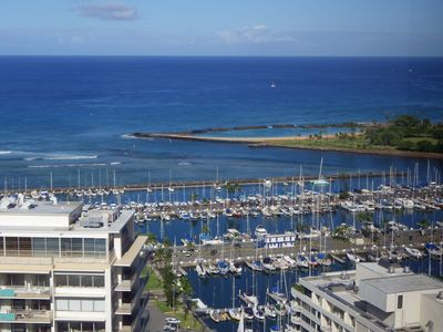 Photo for Spacious 2 Br With Ocean, Diamond Head, Harbor, Sunset and Firework Views!!