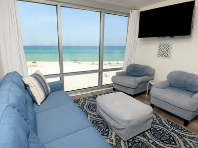 Photo for Lovely 3rd Floor Condo! Gulf Front, Great Amenities, Beach Access, Short Walk to Pier Park!