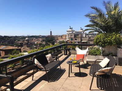 Photo for Splendid Rome Penthouse, near Trevi Fountain, with Spectacular Terraces and Views,