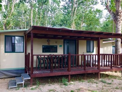 Photo for Lovely chalet with a nice covered veranda on Lake Trasimeno