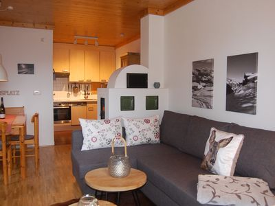 Photo for Apartment, Höhenrausch 'at 1,700 meters altitude, 150 meters to the lift, underground parking space