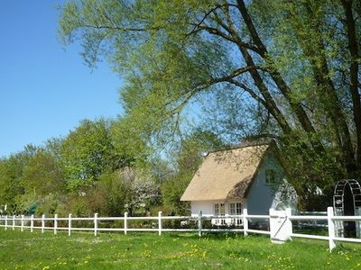 "Photo for Thatched cottage ""Am Wieseneck"" with garden, near the beach, internet, 3 bicycles"