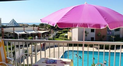 Photo for Lovely T2 + cabin pool next to Richelieubeach Cap d'Agde