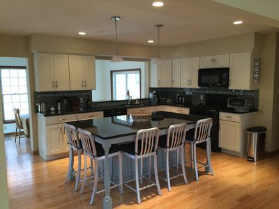 Kitchen with maple cabinets and granite countertops