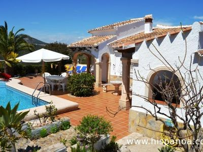Photo for Rental Costa Blanca, pool villa for 6 persons, sea view