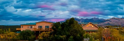Panorama of Truchas Peaks Place with Mountain Views & nearby Casita