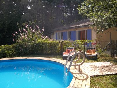 Photo for Bungalow with attached one bedroom gite.With Secluded Private Pool. Sleeps 8