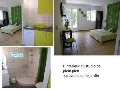 Photo for STUDIO for 2 people in villa with pool
