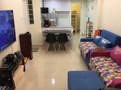 "Photo for 120"" Theatre 3BR 2Bath 4min MTR Wan Chai"