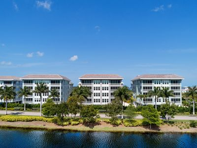 Photo for NEW LISTING! Luxury, bay-view condo with shared pool & spacious kitchen
