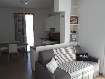 Photo for Comfortable one bedroom apartment close to the crystal clear sea of the Gulf of Tigullio
