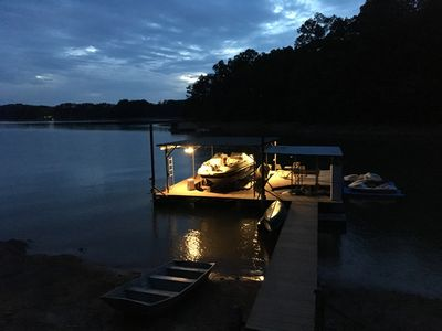 Photo for Cabin on Lanier, with 32 x 32 dock and Deep Water, Family friendly