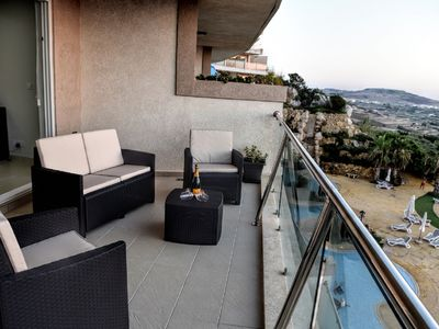 Photo for Luxury apartment with panoramic countryside and sea views