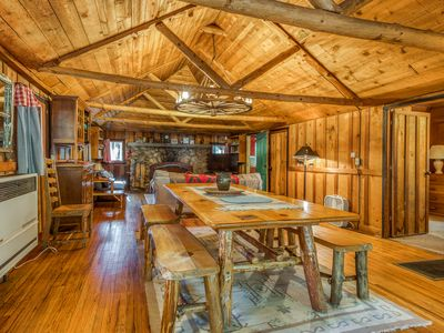 Photo for Beautiful cabin w/private hot tub! Hike, fish, shop & more!