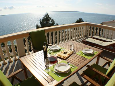 Photo for Seafront apartment 20 m from the beach