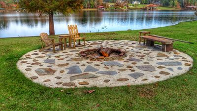 Outdoor Fire pit on the water