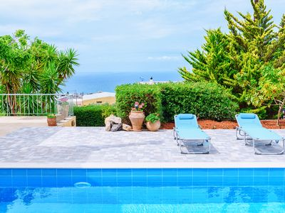 Photo for Villa Iris-Private villa with pool and view!