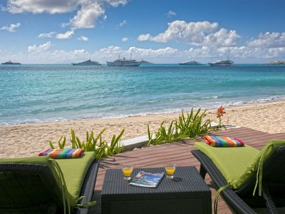 Stunning 6 bedroom villa located directly on the beach in St Martin