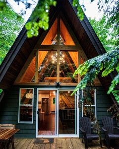 Photo for MichiganAFrame (Manistee Lake) Kalkaska, MI: Gorgeous renovated A-Frame!