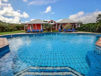 Photo for Rent villa 12p, huge pool and large garden, 10 minutes from the beaches of the south