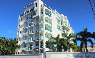 Photo for Luxury Ocean View Condo with Private Patio and Pool.  Just steps from the beach!