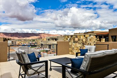 Patio Deck View - This deck is the perfect place to enjoy the weather of St. George!