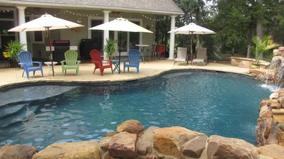 Photo for Mesquite Retreat - Lovely Country Home, near COTA track,  Heated Pool!