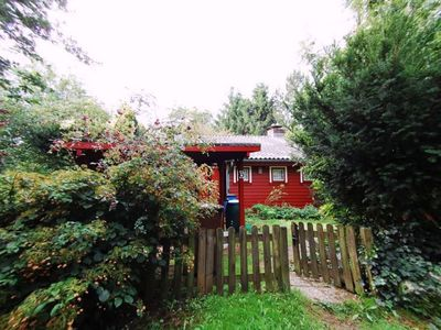 Photo for Very cozy Scandinavian log cabin in a quiet location on a large plot
