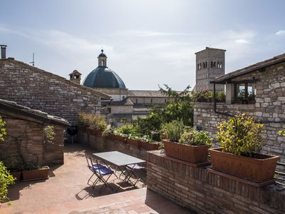 Photo for Apartment in the center of Assisi - large rooftop terrace and fabulous views