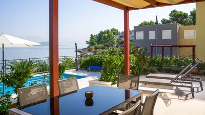 Photo for Luxurious beachfront apartment Golden B1 with private pool EOS-CROATIA