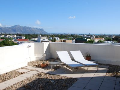 Photo for Fantastic 180 sqm apartment with 100 sqm roof terrace, views of mountains u. sea