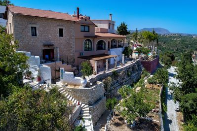 Amazing villa,13 persons,Almyrida,Chania,The main entrance of the property