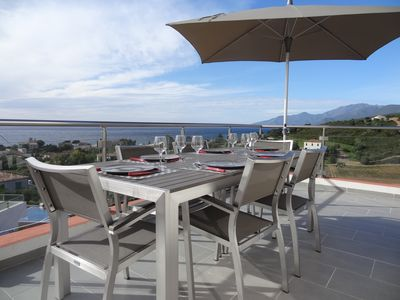 Photo for Superb 3-room apartment with view of the sea, mountains & vineyards