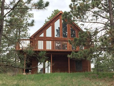 Photo for Relax and unwind in this secluded Black Hills cabin-minutes from Mt. Rushmore!