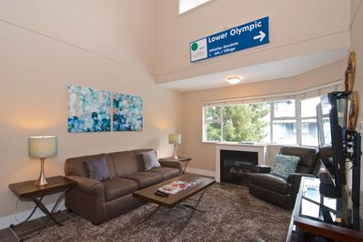High Vaulted ceilings...tons of natural light. New modern decor