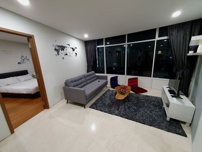 Photo for Cozy 2+1 BR CityView| Vortex Suite KLCC
