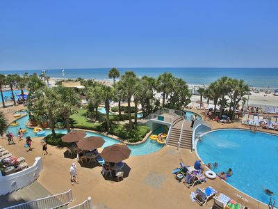 Photo for Beautiful 2 Bedroom Ocean  Front Condo, 11th Floor, Wyndham Ocean Walk Resort