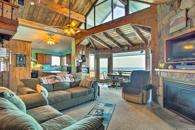 The cottage has 3 bedrooms, 2 bathrooms, a spacious loft, and sleeps 10!