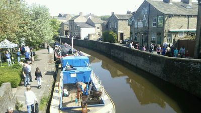 Skipton Waterways Festival. Watsons Houses is next to pub on right.