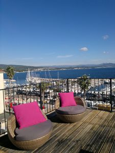 Photo for La Ciotat, sea view, beautiful apartment of 80m² with panoramic terrace