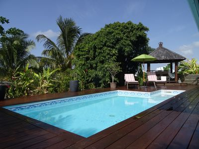 Photo for Zen charming villa, all wood, with secured pool, Bali atmosphere