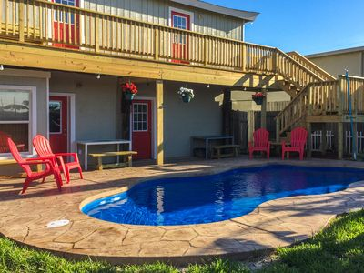 Photo for Charming, family-friendly home w/ deck, patio, & shared pool - walk to beaches