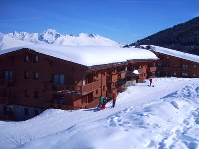 Photo for Superb 3 bedroom ski in & out apartment in Les Arcs 1800, with Pool & Free WiFi