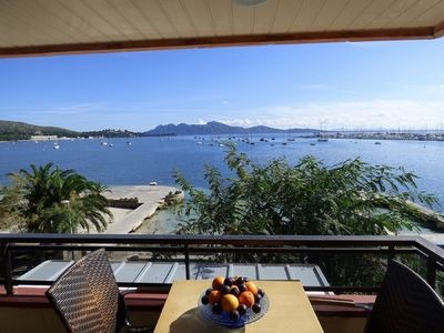 Photo for Apartment in front of the sea in the center of Port Pollença