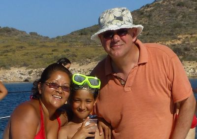 White Family enjoying the sun in Spain