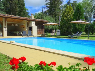 Photo for Mirepoix, Nr Carcassonne. Large Country House, Heated Pool & Grounds. 6 bedrooms